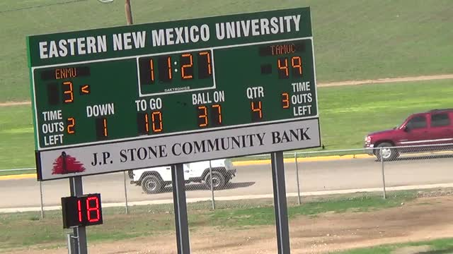 Mens Varsity Football Eastern New Mexico University Portales