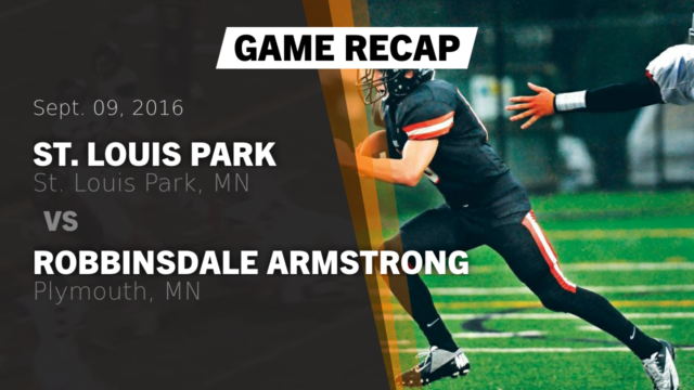 Boys Varsity Football St Louis Park High School Minnesota Hudl