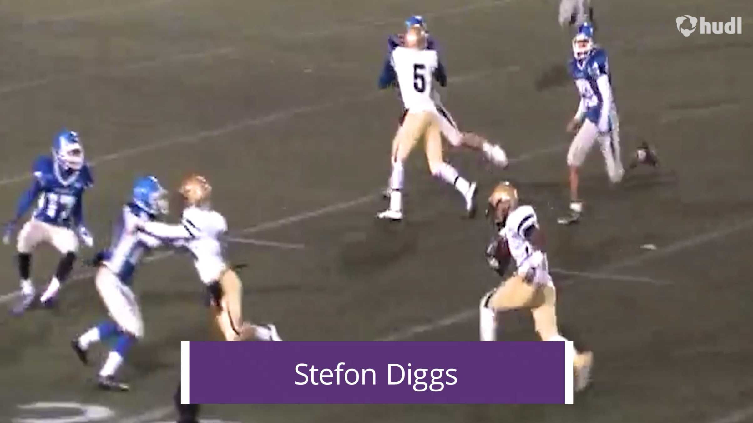 NFL Throwback Stefon Diggs Football Highlights highlights Hudl